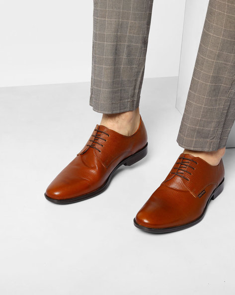 Genuine Leather Oxford Shoes By RED TAPE ( Tan )