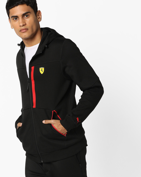 Front-Zip Hooded Jacket By Puma ( Black )