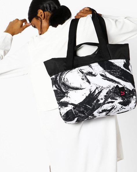 Prime Large Shopper G Handbag By Puma ( Black )