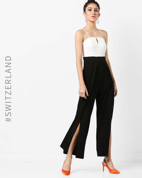 Strappy Colourblock Jumpsuit By TALLY WEiJL ( Black )