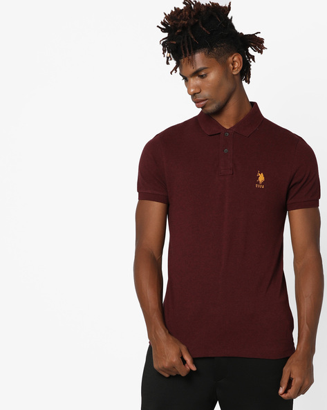 Polo T-shirt With Ribbed Hems By US POLO ( Multi )