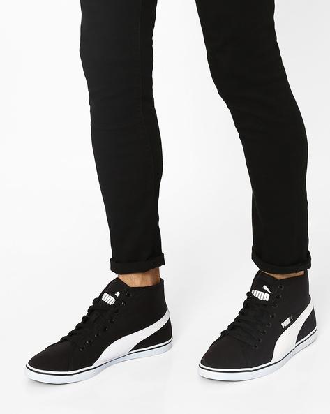 Elsu V2 Mid CV DP Canvas Sneakers By Puma ( Black )