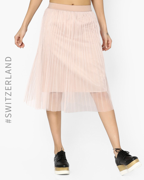 Sheer Midi Skirt By TALLY WEiJL ( Pink )