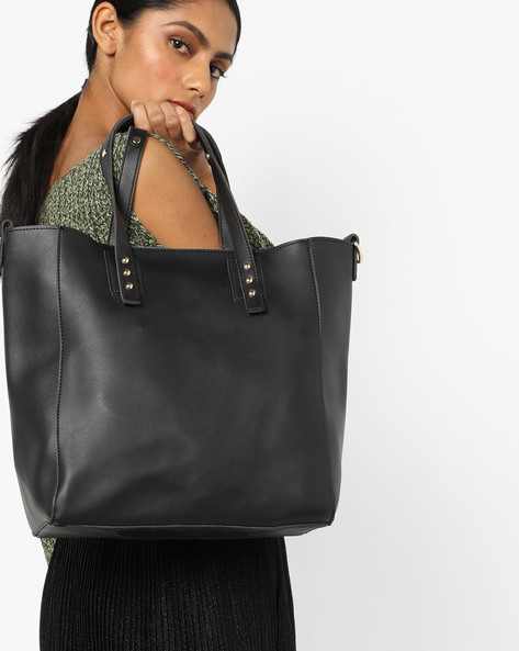 Tote Bag With Detachable Sling By 20Dresses ( Black )