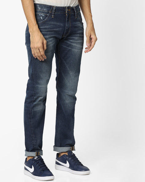 Newopt 165504 Skinny Fit Distressed Jeans By LEVIS ( Blue )