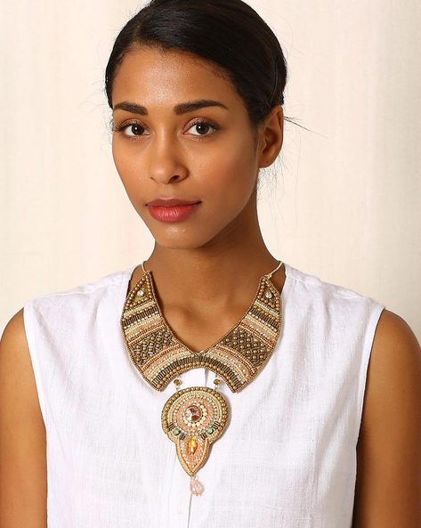 Beaded Statement Necklace By Indie Picks ( Multi ) - 460042604001