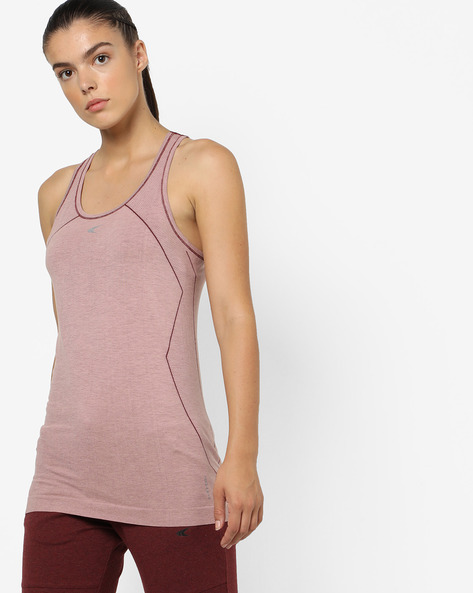Quickdry Seamless T-shirt With Racerback By PERFORMAX ( Ltpeach )