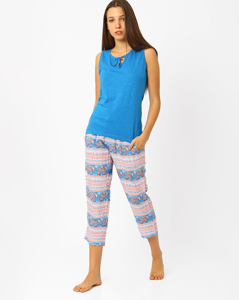 Printed Lounge Set By Heart 2 Heart ( Blue ) - 460068868001