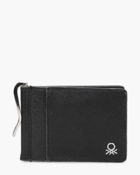 Genuine Leather Bi-Fold Wallet By UNITED COLORS OF BENETTON ( Black ) - 460133117001