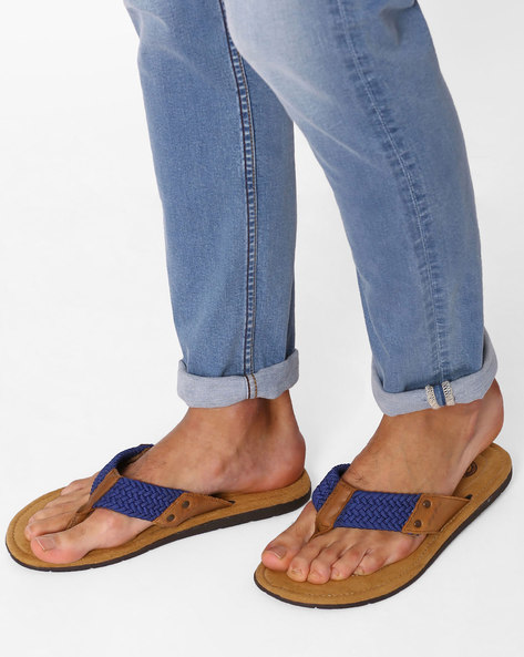 Flip-Flops With Braided Straps By USPA ( Blue )