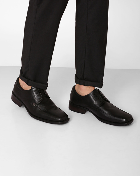 Genuine Leather Formal Shoes By VALENTINO ( Black )