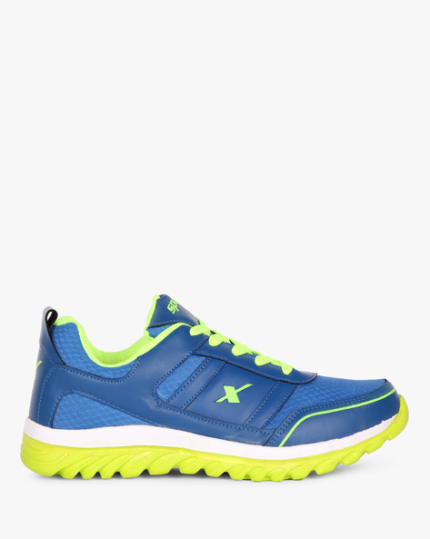 Panelled Sports Lace-ups By SPARX ( Blue )