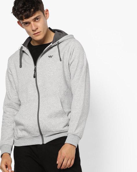Zuci Hooded Sweatshirt With Front Zipper By Wildcraft ( Greymelange )