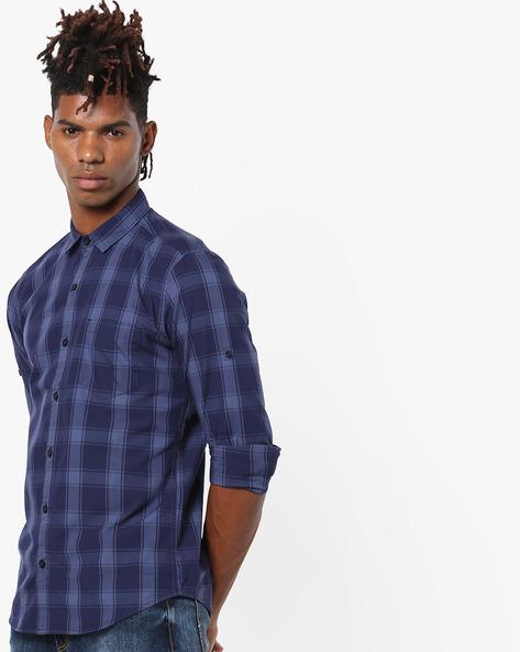 Yarn-Dyed Checked Shirt By Highlander ( Multi )