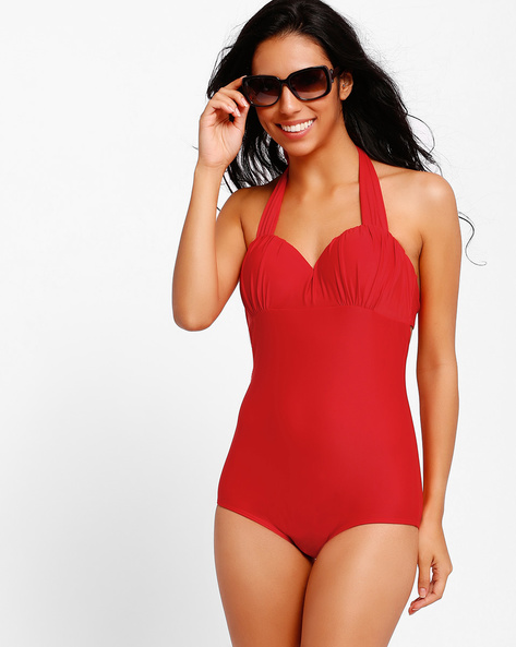 One-Piece Swimsuit By PrettySecrets ( Red )