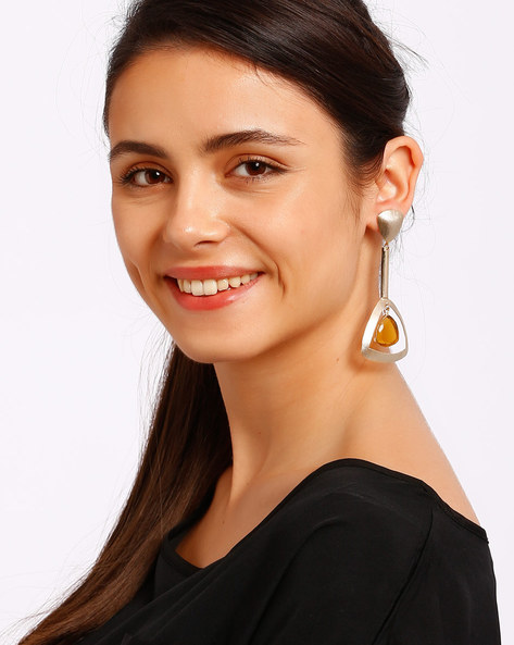 Gold-Plated Drop Earrings By Ssoul ( Yellow ) - 460008518001