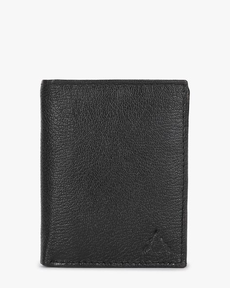 Genuine Leather Bi-Fold Wallet By ALVARO CASTAGNINO ( Black )