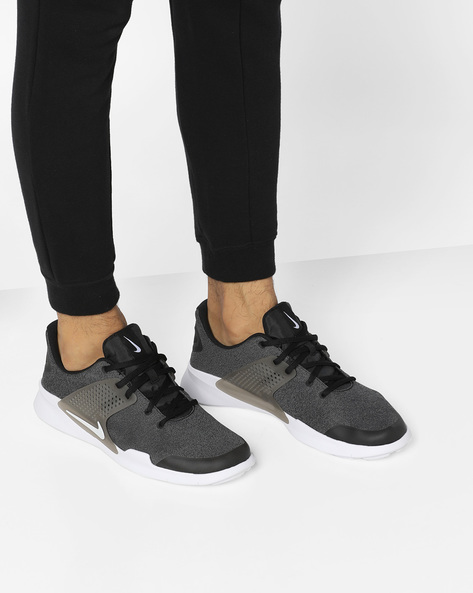 Textured Lace-Up Running Shoes By NIKE ( Blkgry )