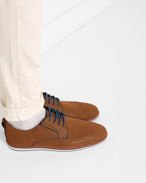 Low-Top N9-Treated Casual Shoes By AJIO ( Brown )