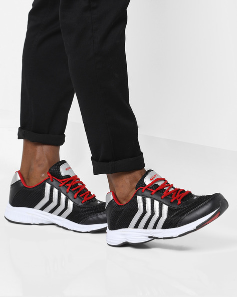 Lace-Up Sports Shoes By SPARX ( Black )