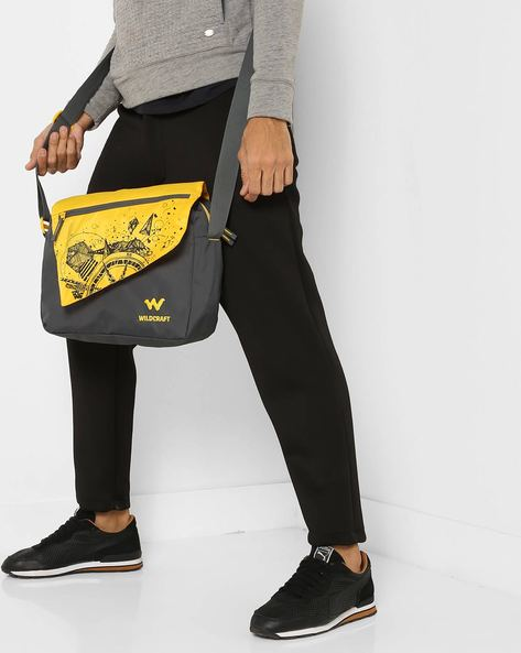 Printed Messenger Bag By Wildcraft ( Yellow )