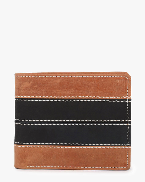Textured Bi-Fold Leather Wallet By TEAKWOOD LEATHERS ( Multi )