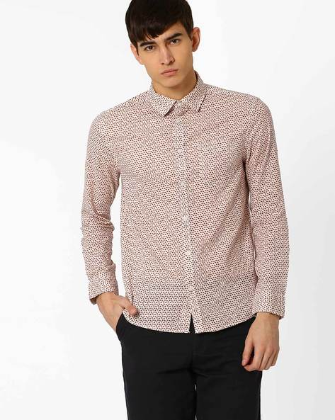Printed Shirt With Patch Pocket By Jack & Jones ( Red )