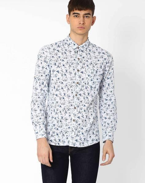 Floral Print Shirt By NETPLAY ( White )