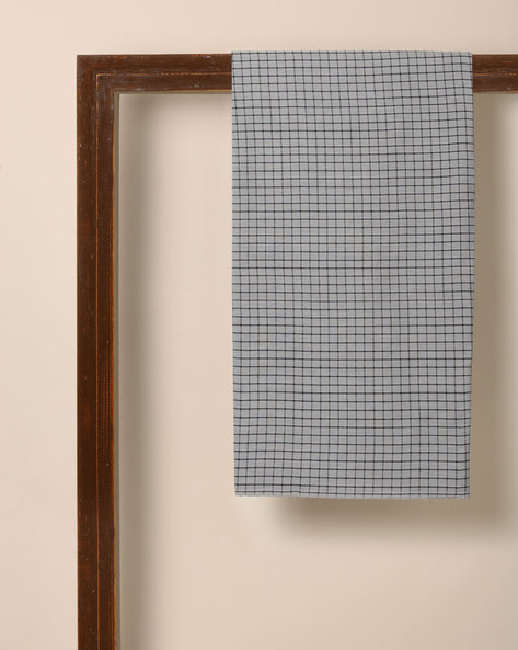 South Cotton Checked Dress Fabric By Indie Picks ( Grey )