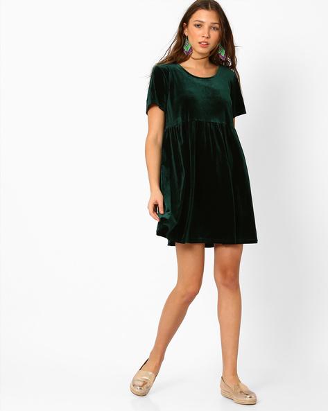 Velvet Short Dress By Glamorous ( Teal )