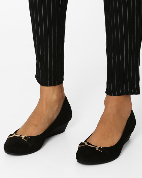 Millo Suede Wedges By Tresmode ( Black )