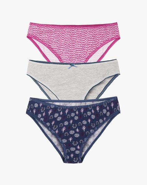 Pack Of 3 Bikini Briefs By Marks & Spencer ( Greymelange )