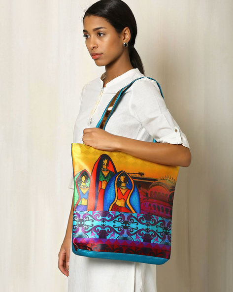 Digital Print Tote Bag By All Things Sundar ( Multi ) - 460040297001