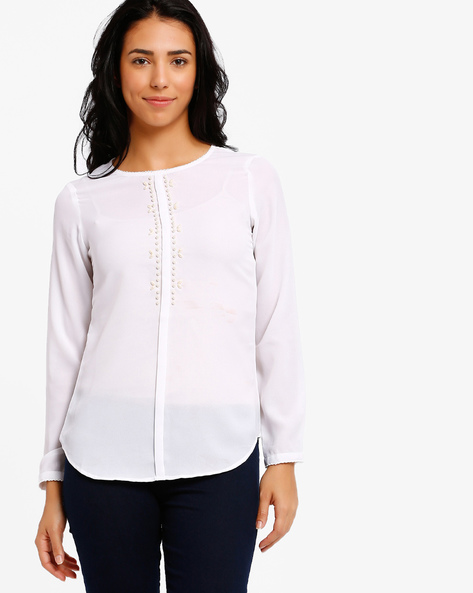 Embellished Shirt By The Vanca ( Offwhite )