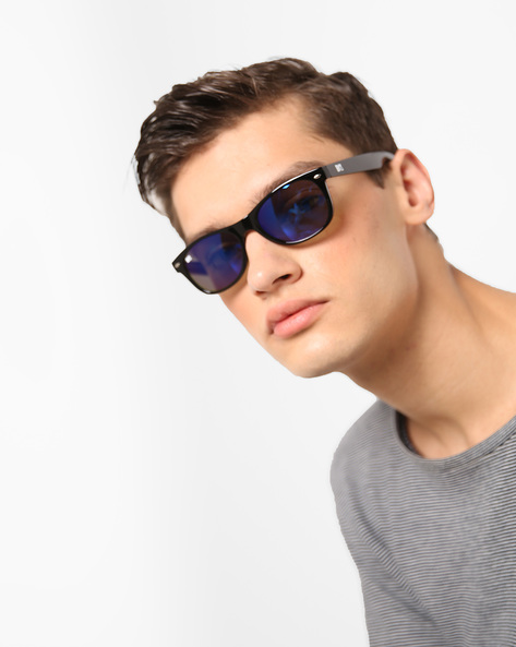 UV-Protected Oval Sunglasses By MTV ( Blue )