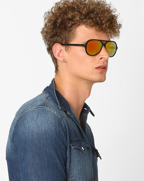 UV-Protected Mirrored Aviators By Joe Black ( Red )