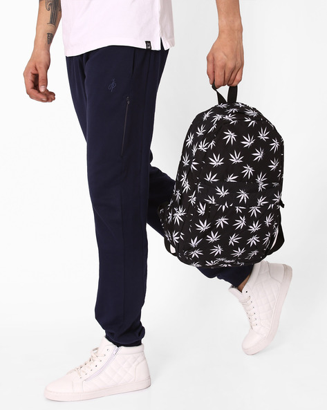 Printed Backpack With Grab Handles By Chasquido ( Blackwhite )