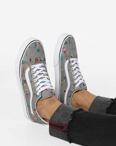 Old Skool (Party Train) Casual Shoes By Vans ( Grey )