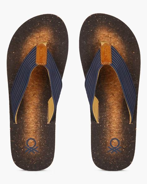Graphic Print Flip-Flops By UNITED COLORS OF BENETTON ( Navy )