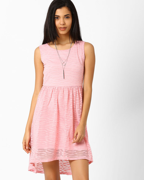Fit & Flare Dress By Candies By Pantaloons ( Lightpink )