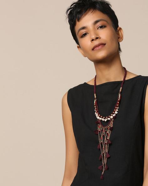 Multi-Strand Brass Long Necklace By Project Eve ( Multi )