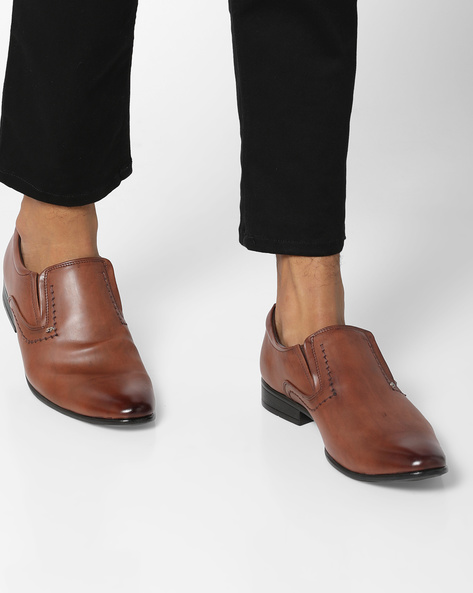 Slip-On Formal Shoes By SAN FRISSCO ( Brown )