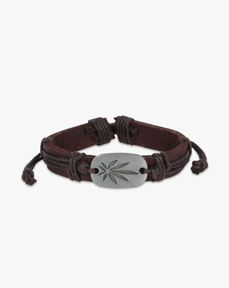 Bracelet With Metal Accent By ALPHA MAN ( Brown ) - 460134305001