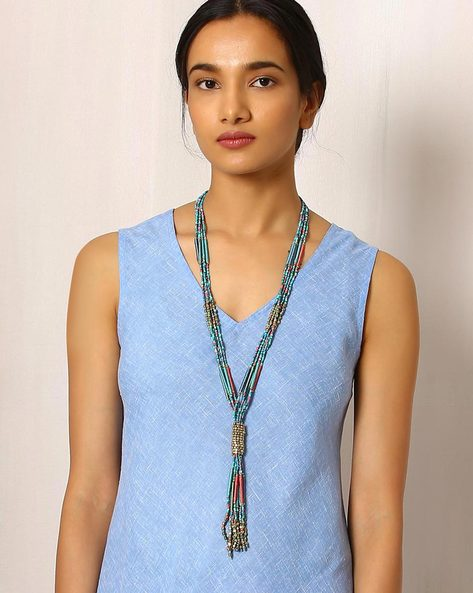 Beaded Tribal Necklace By Indie Picks ( Multi )