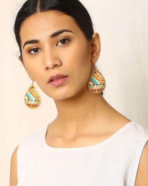 Brass Drop-Earrings By Indie Picks ( Multi )