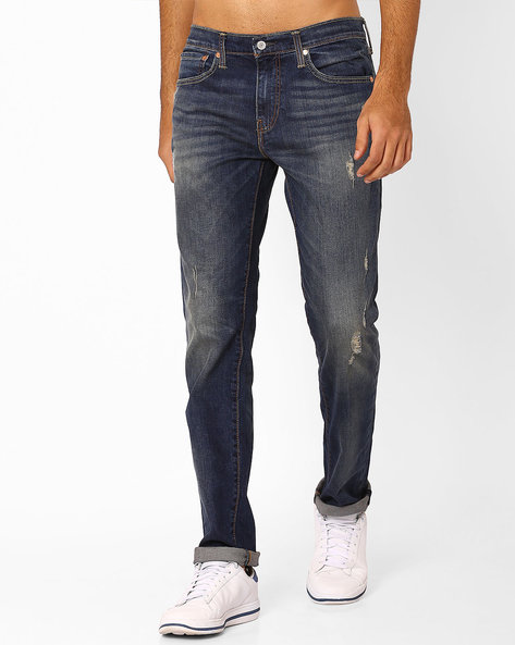 511 Lightly Washed Slim Jeans By LEVIS ( Blue )