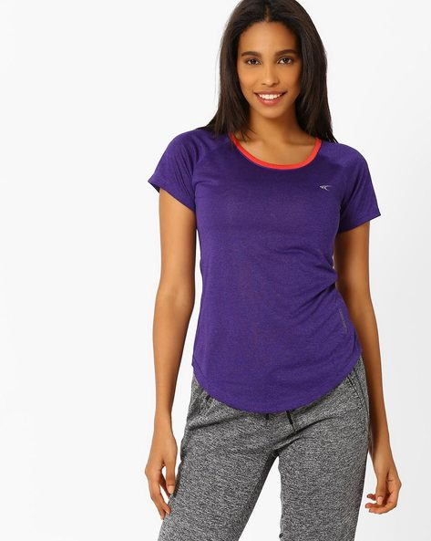 Knitted T-shirt With Quick Dry By PERFORMAX ( Purple )