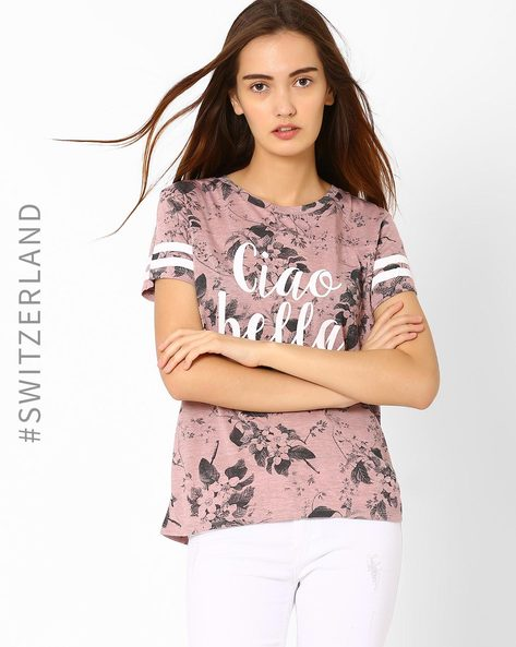 Printed T-shirt By TALLY WEiJL ( Pink )
