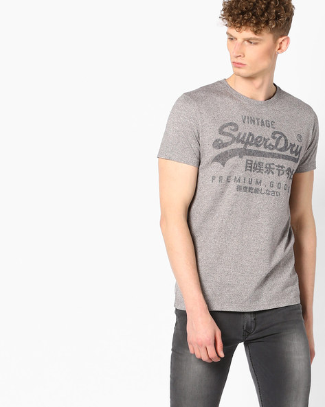 Printed Crew-Neck T-shirt By SUPERDRY ( Hlx )