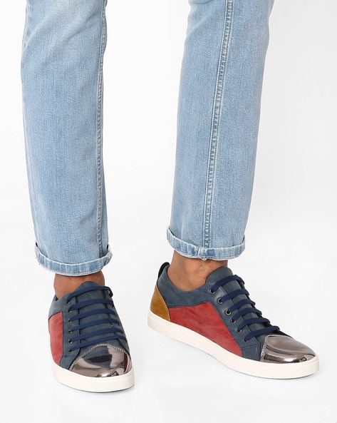 Cooper Colourblock Casual Shoes By Muddman ( Red )